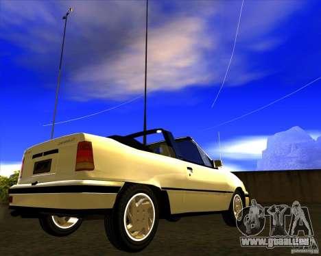 Chevrolet Kadett GSI 2.0 Conversivel (1991-1995) für GTA San Andreas rechten Ansicht