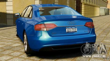 Audi A4 2010 pour GTA 4 Vue arrière de la gauche