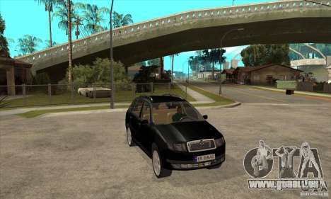 Skoda Fabia Combi für GTA San Andreas Rückansicht