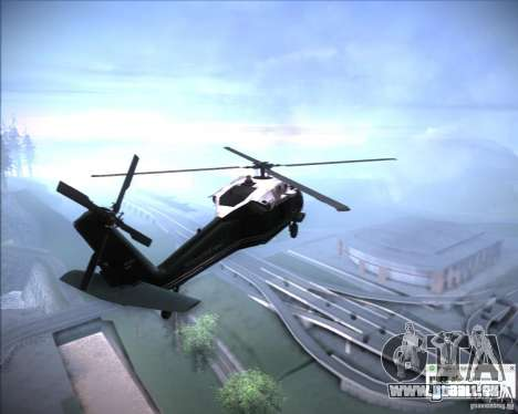 Sikorsky VH-60N Whitehawk pour GTA San Andreas vue de droite