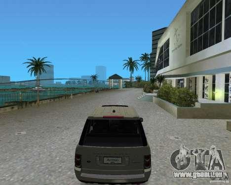 Rang Rover 2010 pour GTA Vice City sur la vue arrière gauche