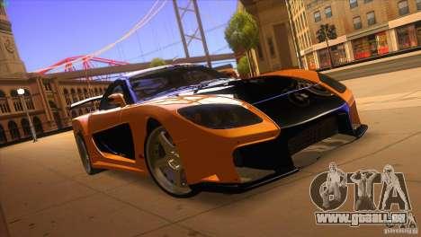 Mazda RX7 Veilside für GTA San Andreas Rückansicht