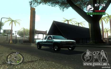 Chevrolet Silverado 2000 pour GTA San Andreas vue de droite