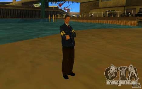 HQ skin FBI pour GTA San Andreas troisième écran