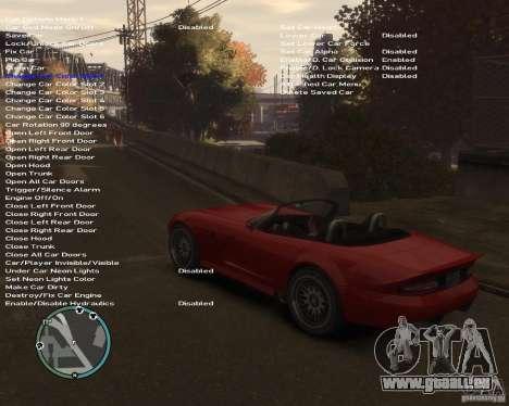 Simple Native Trainer v6.4 für GTA 4 fünften Screenshot