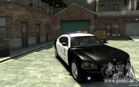 Dodge Charger LAPD V1.6 für GTA 4 Rückansicht