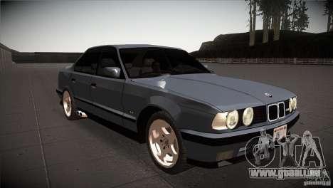 BMW M5 E34 1990 für GTA San Andreas Rückansicht