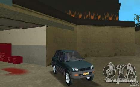 Toyota RAV4 für GTA Vice City Rückansicht