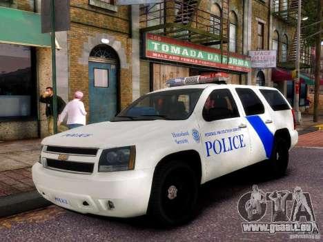 Chevrolet Tahoe New York Police pour GTA 4 est une vue de l'intérieur