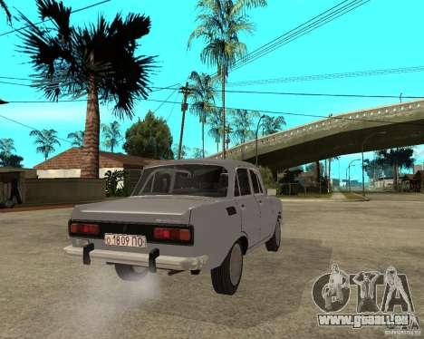 Moskvitch AZLK 2140- pour GTA San Andreas sur la vue arrière gauche