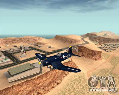Aereo Corsair F4U1D für GTA San Andreas Rückansicht