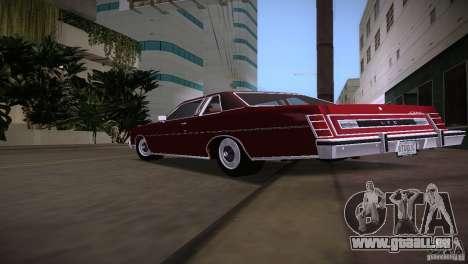 Ford LTD Brougham Coupe pour une vue GTA Vice City de la droite