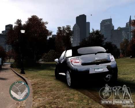 Citroen DS3 2011 pour GTA 4 est une gauche