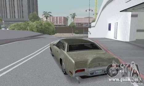 Lincoln Continental Mark IV 1972 pour GTA San Andreas vue de dessous