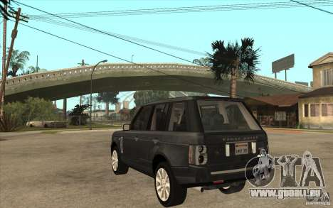 Range Rover Supercharged 2008 pour GTA San Andreas sur la vue arrière gauche
