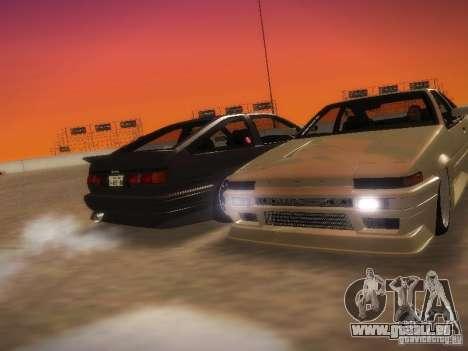 Toyota Sprinter Trueno AE86 pour GTA San Andreas vue de droite