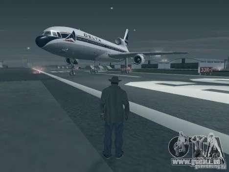 L1011 Tristar Delta Airlines für GTA San Andreas linke Ansicht