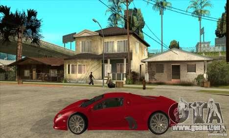 SSC Ultimate Aero Stock version für GTA San Andreas linke Ansicht