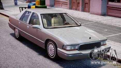 Buick Roadmaster Sedan 1996 v 2.0 pour GTA 4 est une vue de dessous