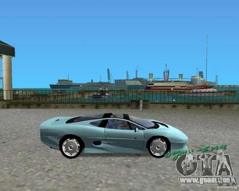 Jaguar XJ220 pour GTA Vice City sur la vue arrière gauche