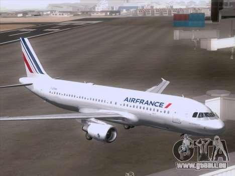 Airbus A320-211 Air France für GTA San Andreas rechten Ansicht
