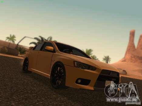Mitsubishi  Lancer Evo X BMS Edition pour GTA San Andreas