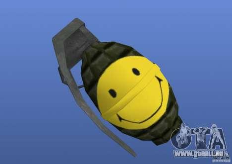 Smiley Granate pour GTA 4 troisième écran