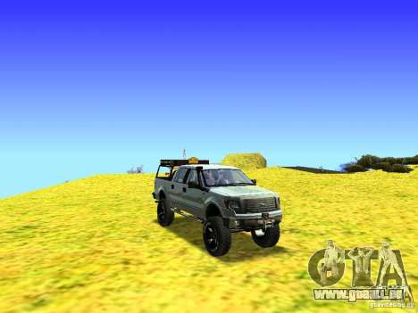 Ford F-150 Off Road für GTA San Andreas Innenansicht