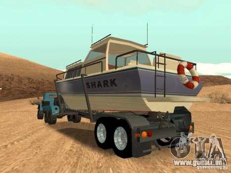 Boat Trailer pour GTA San Andreas vue intérieure