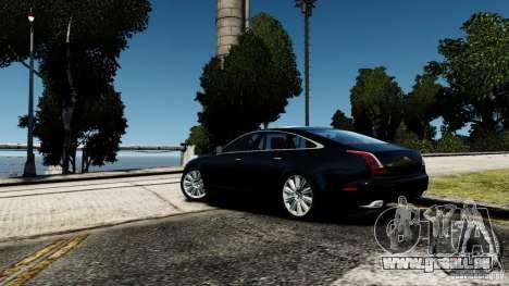 Jaguar XJ 2012 pour GTA 4 Vue arrière de la gauche