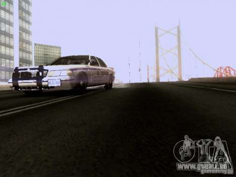 Ford Crown Victoria Canadian Mounted Police pour GTA San Andreas vue de côté