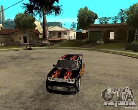 Mélodie de VAZ 2106 GTX pour GTA San Andreas vue intérieure