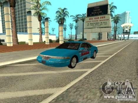 Lincoln Mark VIII 1996 pour GTA San Andreas vue intérieure