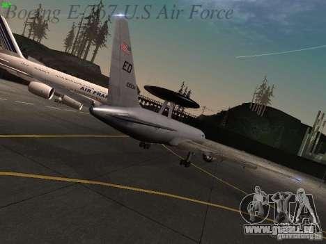 Boeing E-767 U.S Air Force pour GTA San Andreas vue arrière
