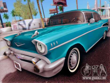 Chevrolet Bel Air 4-Door Sedan 1957 für GTA San Andreas linke Ansicht