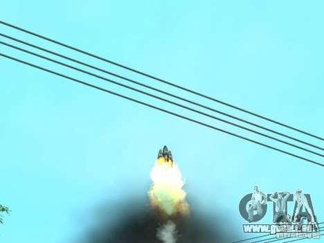 Vol dans l'espace pour GTA San Andreas troisième écran
