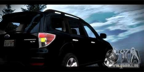 Subaru Forester XT 2008 für GTA San Andreas Unteransicht