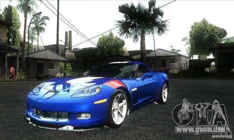 Chevrolet Corvette Grand Sport 2010 pour GTA San Andreas vue de dessous