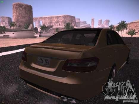 Mercedes-Benz E63 AMG für GTA San Andreas zurück linke Ansicht