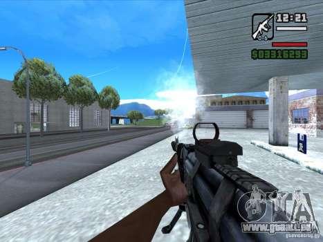 AK-103 de WARFACE pour GTA San Andreas troisième écran