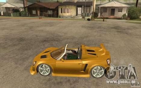 Opel Speedster pour GTA San Andreas laissé vue