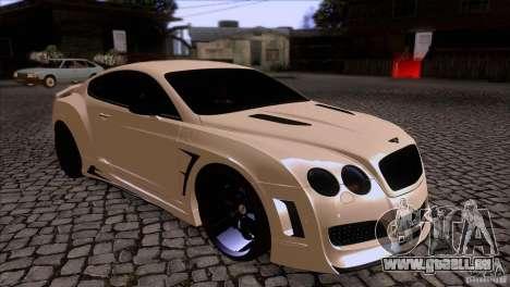 Bentley Continental GT Premier 2008 V2.0 für GTA San Andreas Seitenansicht