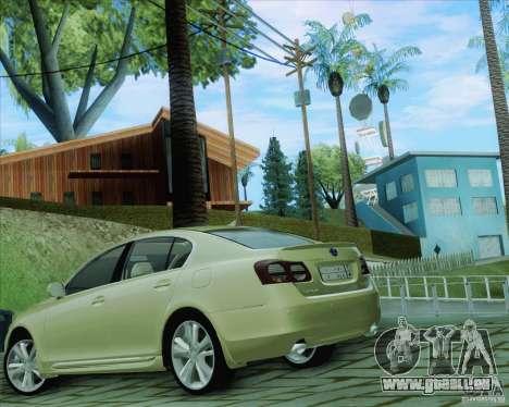 Lexus GS450h 2011 pour GTA San Andreas laissé vue