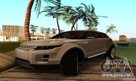 Land Rover Range Rover Evoque pour GTA San Andreas laissé vue