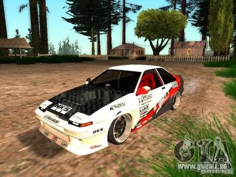Toyota AE86 Coupe für GTA San Andreas