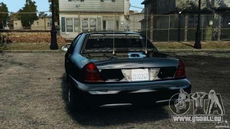 Ford Crown Victoria Police Unit [ELS] für GTA 4 hinten links Ansicht