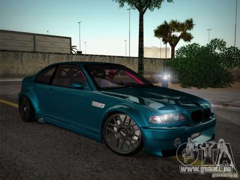 BMW E46 Drift II pour GTA San Andreas vue intérieure
