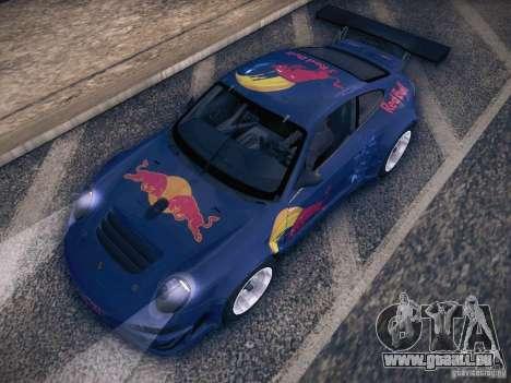Porsche 997 GT3 RSR pour GTA San Andreas vue de dessus