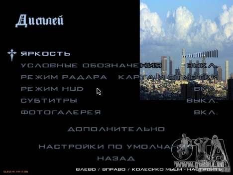 Nouveau menu dans le style de Los Angeles pour GTA San Andreas cinquième écran