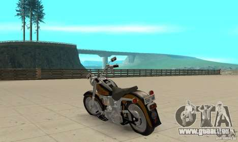 Harley Davidson FLSTF (Fat Boy) v2.0 Skin 3 pour GTA San Andreas sur la vue arrière gauche